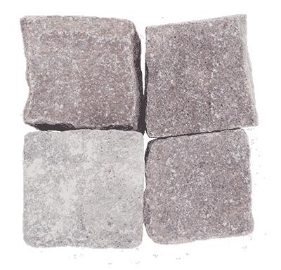 Pflasterstein Porphyr rot-braun-grau